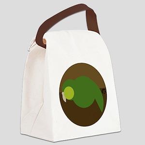 kakapo circle Canvas Lunch Bag