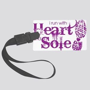 Heart n Sole purple Large Luggage Tag