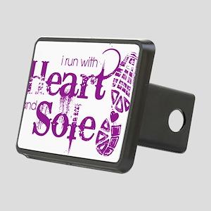 Heart n Sole purple Rectangular Hitch Cover