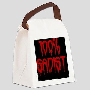100% Sadist oval Canvas Lunch Bag