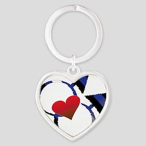 male_male leather Heart Keychain