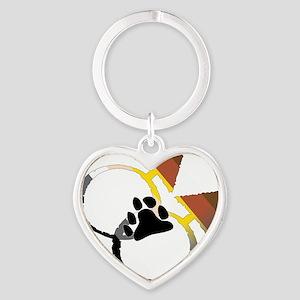 male_male bear Heart Keychain