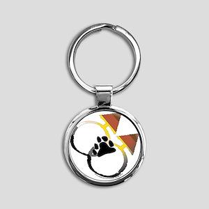 male_male bear Round Keychain