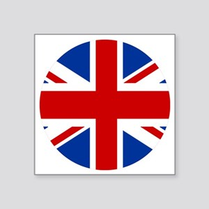 "union-jack-rounded Square Sticker 3"" x 3"""