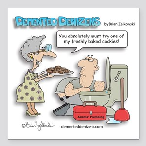 """cookie_plumber Square Car Magnet 3"""" x 3"""""""
