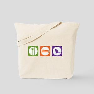 Eat Sleep Angora Tote Bag