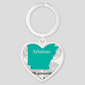 Arkansas Heart Keychain