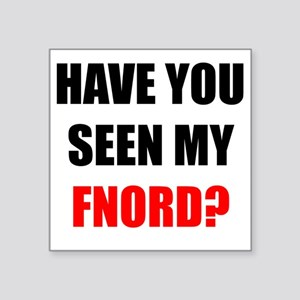 "FNORD_10x10_apparel copy Square Sticker 3"" x 3"""