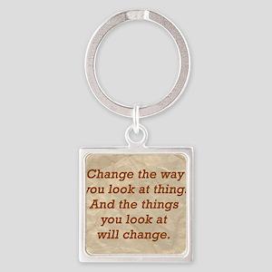 Change-the-way Square Keychain