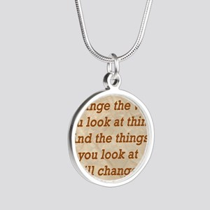 Change-the-way Silver Round Necklace