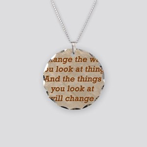 Change-the-way Necklace Circle Charm