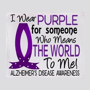 D Means The World To Me Alzheimers D Throw Blanket