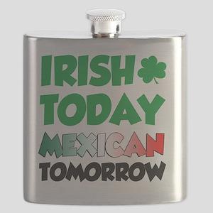 Irish Today Mexican Tomorrow Flask