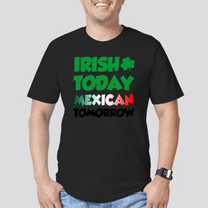 Irish Today Mexican To Men's Fitted T-Shirt (dark)