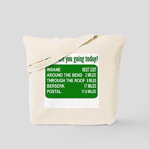 Green Going Insane Tote Bag