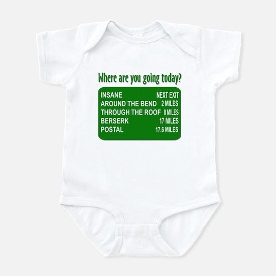 Green Going Insane Infant Bodysuit
