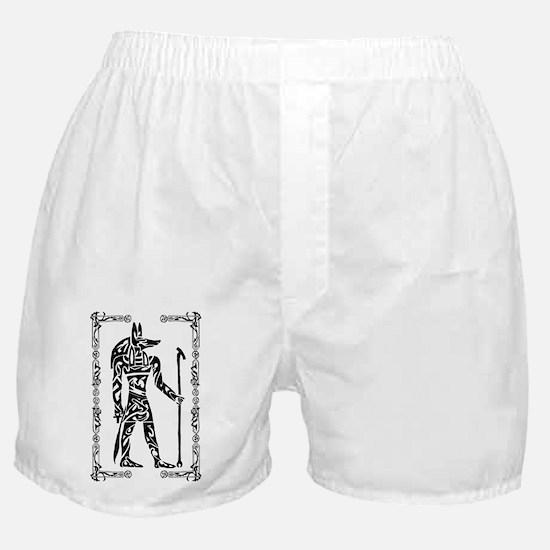 Anubis w border Boxer Shorts