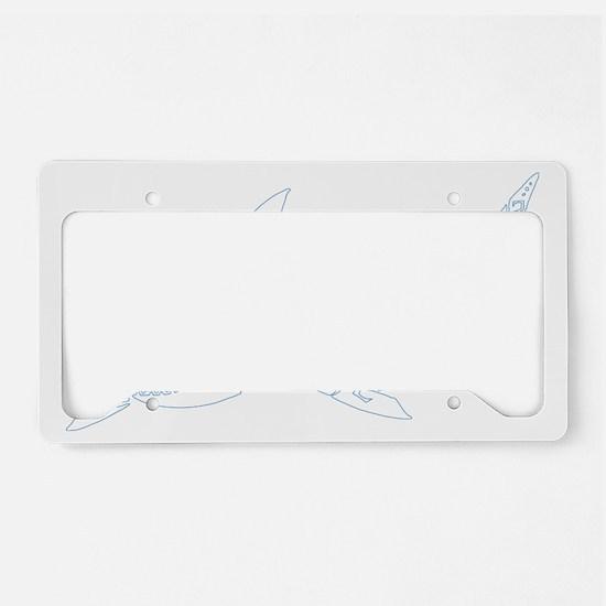 shark_WHITE License Plate Holder