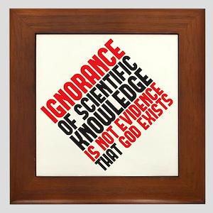 ignorance2 copy Framed Tile