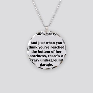 Crazy Necklace Circle Charm