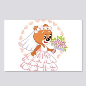 Bridal Bear Postcards (Package of 8)