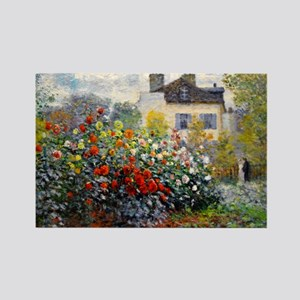 Bag Monet Red Rectangle Magnet