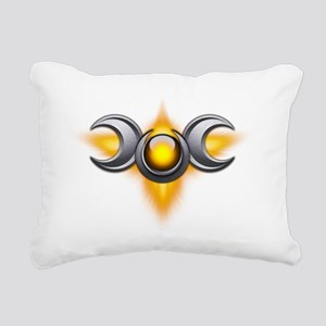 Triple Goddess - yellow  Rectangular Canvas Pillow
