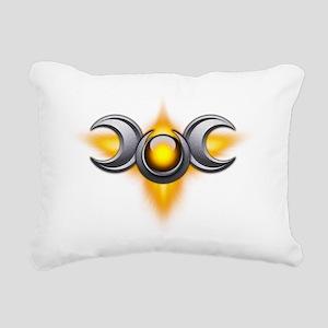 Triple Goddess - yellow  Rectangular Canvas Pillow