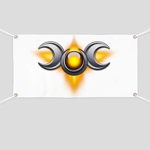 Triple Goddess - yellow - transparent Banner