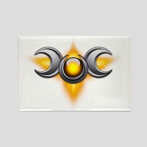 Triple Goddess - yellow - transpa Rectangle Magnet