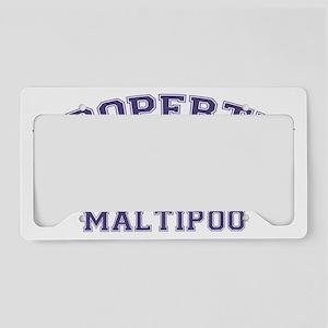 maltipooproperty License Plate Holder
