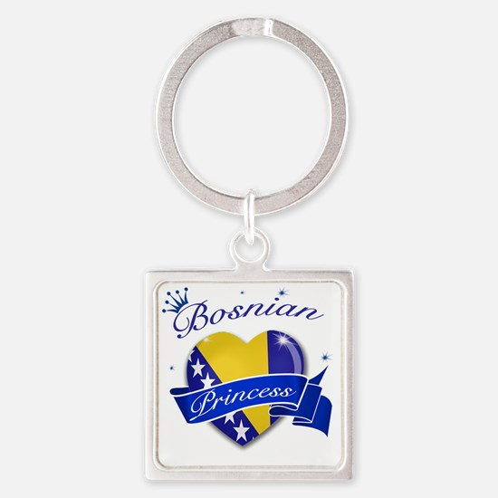 bosnia Square Keychain