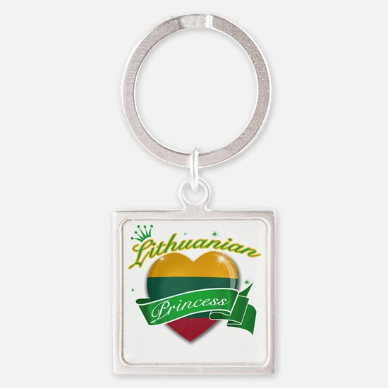 lithuania Square Keychain