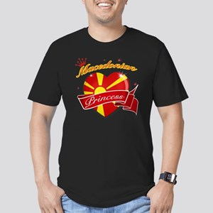 macedonia Men's Fitted T-Shirt (dark)