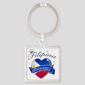 phillipines Square Keychain