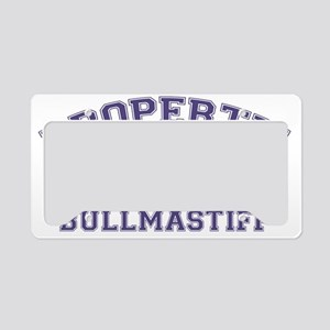 bullmastiffproperty License Plate Holder