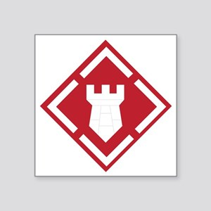 "SSI - 20th-Engineer Brigade Square Sticker 3"" x 3"""