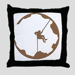 A Climbers World Throw Pillow