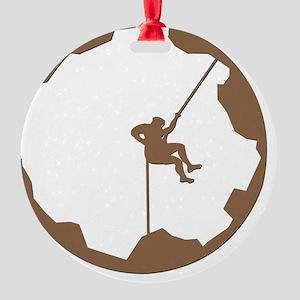 A Climbers World Round Ornament