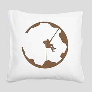 A Climbers World Square Canvas Pillow