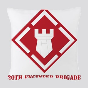 SSI - 20th Engineer Brigade wi Woven Throw Pillow