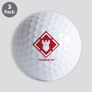 SSI - 20th Engineer Brigade with Text Golf Balls