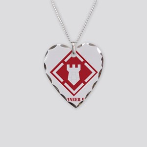 SSI - 20th Engineer Brigade w Necklace Heart Charm