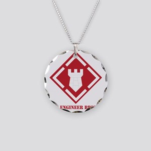 SSI - 20th Engineer Brigade  Necklace Circle Charm