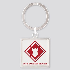 SSI - 20th Engineer Brigade with T Square Keychain