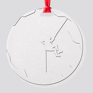 A Climbers World (dark) Round Ornament