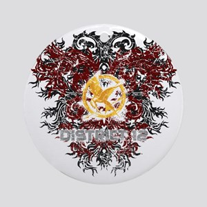 hunger games district 12 Round Ornament