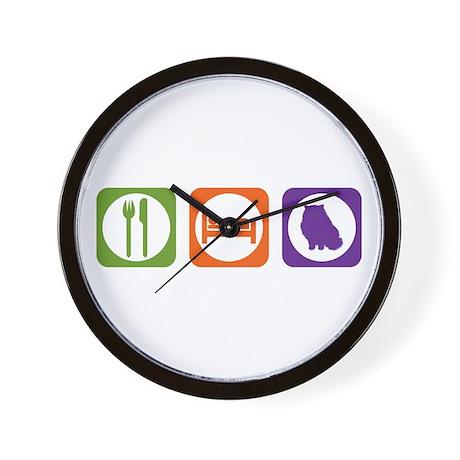 Eat Sleep Himalayan Wall Clock