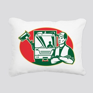 Garbage Collector and Si Rectangular Canvas Pillow