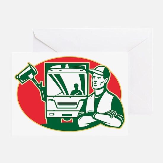 Garbage Collector and Side Loader Ru Greeting Card
